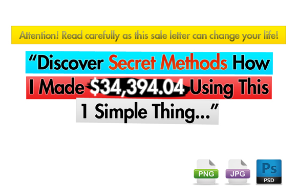 Awesome Marketing PSD Sales Headline Edition 62