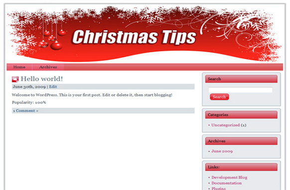 Christmas Niche WP Theme Edition 1