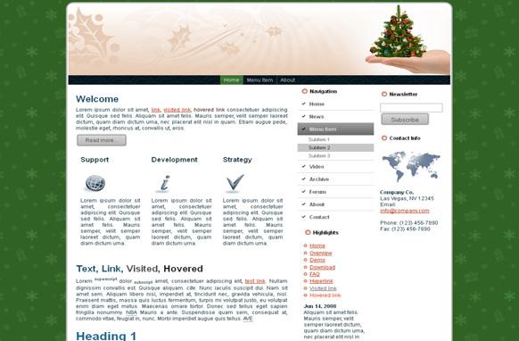 Christmas Tree HTML Template
