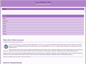 Grape Mobile WP Website Template