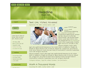 Green Subject WP Theme