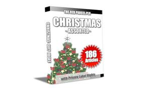 Christmas Assorted 186 PLR Articles