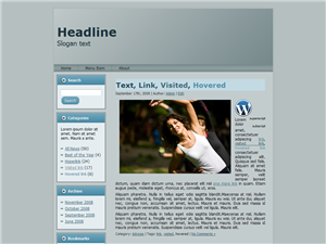 Grey But Blue WP Theme