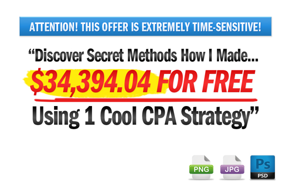 Awesome Marketing PSD Sales Headline Edition 74