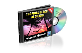 Relaxtion Audio Sounds Tropical Beach At Sunset