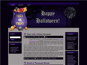 Halloween Blogger Theme Edition 2