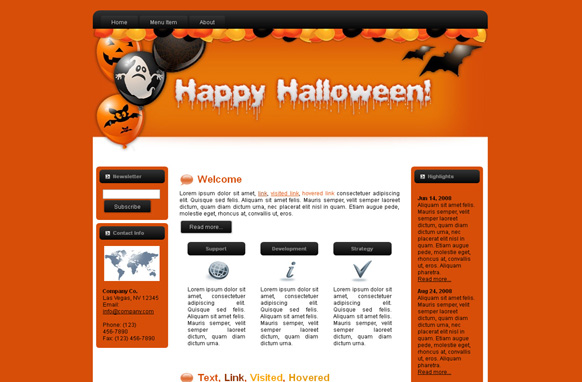 Halloween HTML Template Edition 1