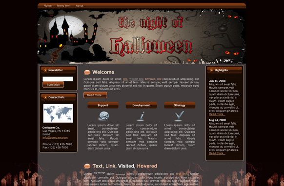 Halloween Night HTML Template