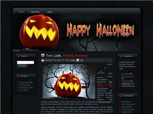 Halloween Pumpkin Blogger Theme