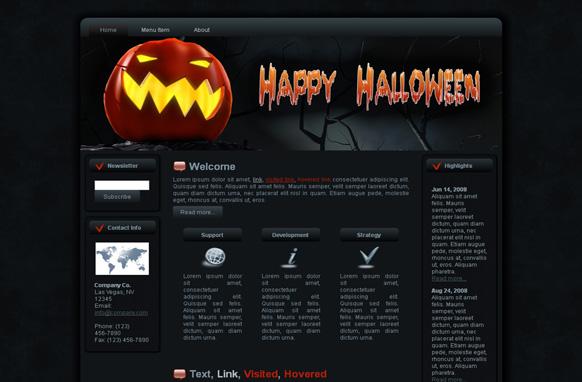 Halloween Pumpkin HTML Template