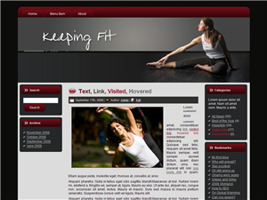 Keeping Fit Blogger Theme Edition 2