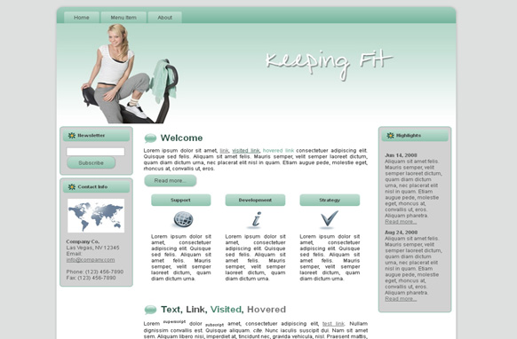 Keeping Fit HTML Template Edition 1