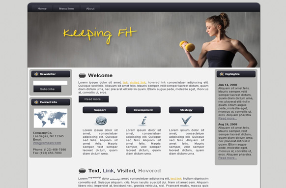Keeping Fit HTML Template Edition 3