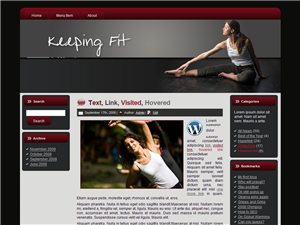 Keeping Fit WP Theme Edition 2