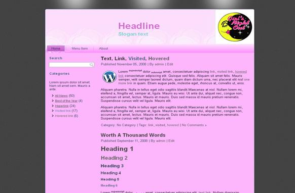 Ladies Night HTML Template