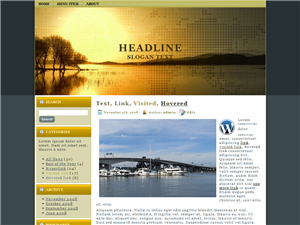 Lake Scape WP Theme