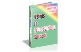 4 Steps To Article Writing Success