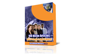 100 Niche Articles With PLR