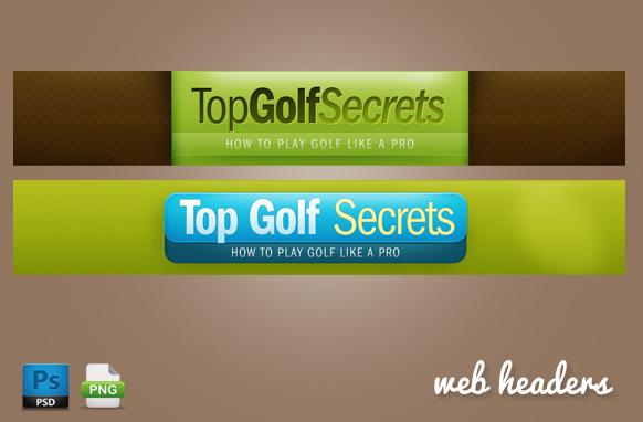 Golf Web Headers in PSD Format