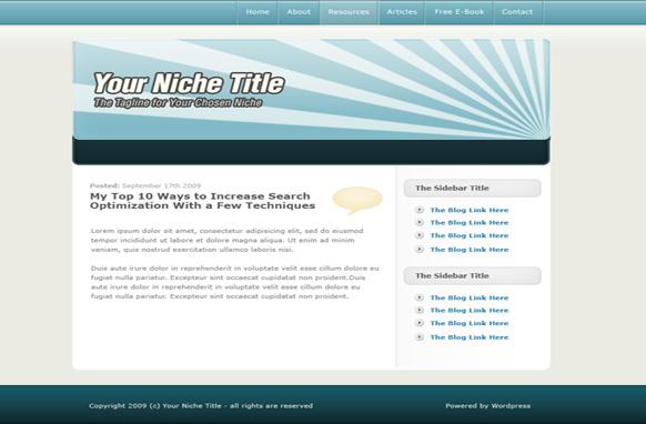 Light Blue WP Salesletter