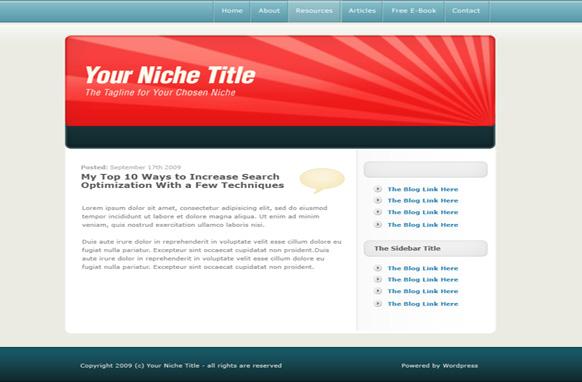 Light Red WP Salesletter