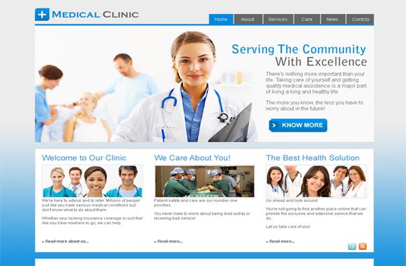 Medical Clinic HTML PSD Template