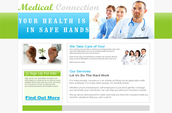 Medical Connection HTML PSD Template