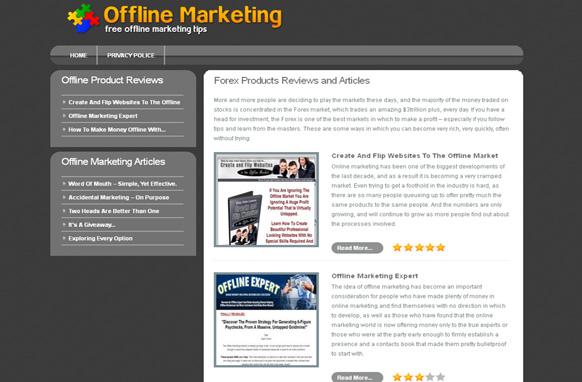 Offline Marketing Niche Site