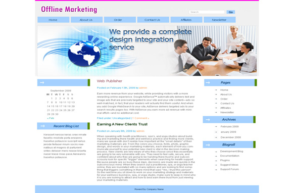 Offline Marketing WP Theme