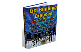 List Building Exposed Super Tips