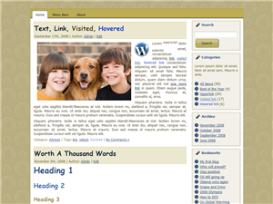 Old Brown WP theme
