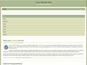 Olivekhaki Mobile WP Website Template