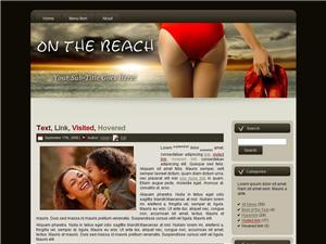 On The Beach Blogger Theme Edition 1