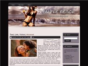On The Beach Blogger Theme Edition 2