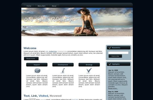 On The Beach HTML Template Edition 3