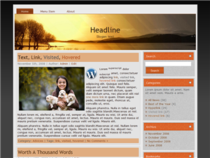 Orange Lake WP Theme