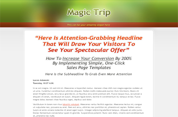 Magic Trip PSD Theme