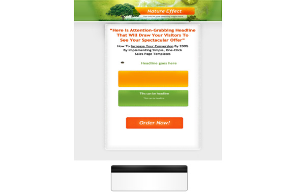 Nature Effect PSD Salespage Template