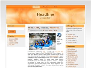 Orange Raft WP Theme