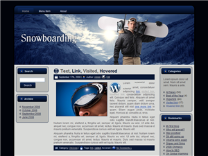 Snowboarding WP Theme