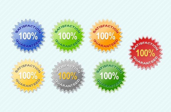 Satisfaction Guarantee Star PSD