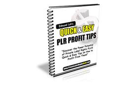Qucik and Easy PLR Profit Tips