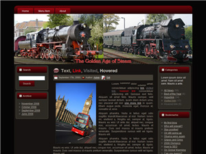 Steam Engine Blogger Theme Edition 3