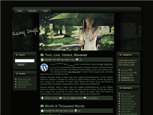 Summer Rain WP Theme