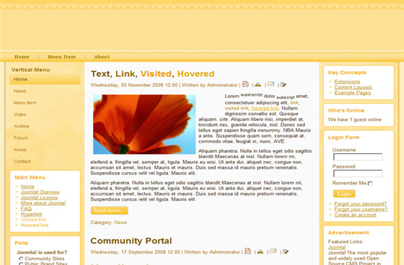 Sun Shine Drupal Theme Edition 1