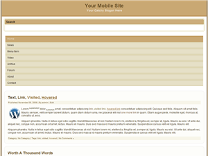 Tan Beige Mobile WP Website Template