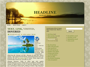 Tanned Skies WP Theme