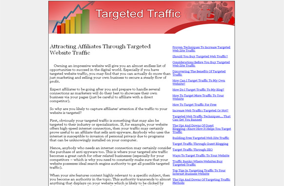 Targeted Traffic PLR Website Articles and PSDs