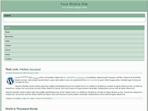 Winter Green Mobile WP Website Template