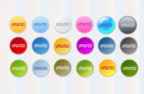 Updated Star Badges PSD